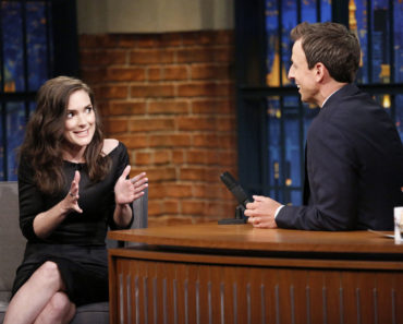 LATE NIGHT WITH SETH MEYERS -- Episode 244 -- Pictured: (l-r) Actress Winona Ryder during an interview with host Seth Meyers on August 10, 2015 -- (Photo by: Lloyd Bishop/NBC)