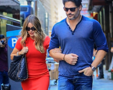09/23/2015 - Sofia Vergara and Joe Manganiello - Sofia Vergara and Joe Manganiello Sighted in New York City on September 23, 2015 - Street - New York City, NY, USA - Keywords: American actor, director, producer, author, Man, Blue Denim Jeans, Blue Shirt, Necklace, Facial Hair, Short Wavy Black Hair, Watch, Timepiece, 3/4 Length Shot, Ring, Rings, Bracelet, Bracelets, Jewelry, Black Pocketbook, Purse, Handbag, Bag, Short Sleeve Red Dress, Hanging Earrings, Sunglasses, Long Wavy Brown Hair with Blond Highlights, Horizontal, Person, People, Woman, Actress, Photography, Arts Culture and Entertainment, Celebrities, Celebrity, Candid, Sofia Vergara Partners with Ninja to Launch Ninja Coffee Bar Orientation: Portrait Face Count: 1 - False - Photo Credit: XPX / PRPhotos.com - Contact (1-866-551-7827) - Portrait Face Count: 1