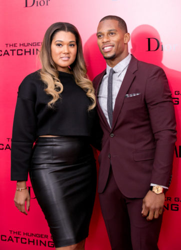 """11/20/2013 - Victor Cruz, Elaina Watley - """"The Hunger Games: Catching Fire"""" New York City Special Screening - Arrivals - AMC Lincoln Square - New York City, NY, USA - Keywords:  Orientation: Portrait Face Count: 1 - False - Photo Credit: Janet Mayer / PRPhotos.com - Contact (1-866-551-7827) - Portrait Face Count: 1"""