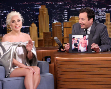 THE TONIGHT SHOW STARRING JIMMY FALLON -- Episode 0344 -- Pictured: (l-r) Singer Lady Gaga during an interview with host Jimmy Fallon on October 6, 2015 -- (Photo by: Douglas Gorenstein/NBC)