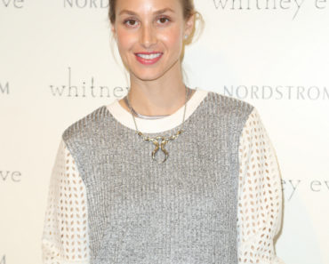 "04/18/2015 - Whitney Port - Whitney Eve ""How We Roll"" Spring Road Tour at The Grove in Los Angeles on April 18, 2015 - The Grove - Los Angeles, CA, USA - Keywords: 1/2 Length, white and Silver Blouse, Necklace, pendant, Jewelry, Diamond stud earrings, pulled back long blonde hair, updo, Vertical, People, Design Professional, California, City Of Los Angeles, One Person, Portrait, Fashion, Arts Culture and Entertainment, Attending, Celebrities, Celebrity, Topix, Bestof Orientation: Portrait Face Count: 1 - False - Photo Credit: Guillermo Proano / PR Photos - Contact (1-866-551-7827) - Portrait Face Count: 1"