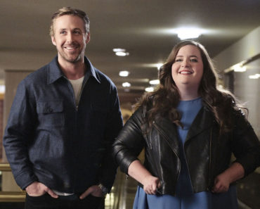 "SATURDAY NIGHT LIVE -- ""Ryan Gosling"" Episode 1690 -- Pictured: (l-r) Ryan Gosling and Aidy Bryant on December 1, 2015 -- (Photo by: Dana Edelson/NBC)"