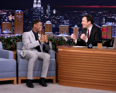 THE TONIGHT SHOW STARRING JIMMY FALLON -- Episode 0391 -- Pictured: (l-r) Actor John Boyega during an interview with host Jimmy Fallon on December 18, 2015 -- (Photo by: Douglas Gorenstein/NBC)