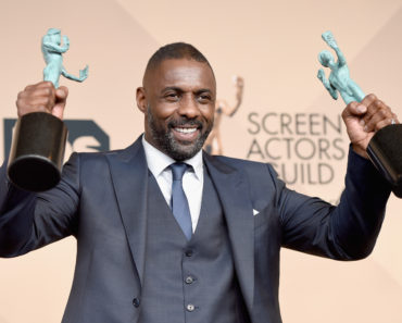 LOS ANGELES, CA - JANUARY 30:  Actor Idris Elba, winner of Outstanding Performance by a Male Actor in a Supporting Role for 'Beasts of No Nation,' and Outstanding Performance by a Male Actor in a Television Movie or Miniseries for 'Luther,' poses in the press room during The 22nd Annual Screen Actors Guild Awards at The Shrine Auditorium on January 30, 2016 in Los Angeles, California. 25650_015  ) *** Local Caption *** Idris Elba