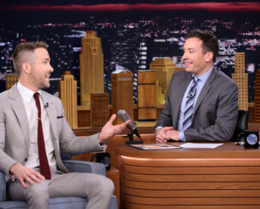 THE TONIGHT SHOW STARRING JIMMY FALLON -- Episode 0414 -- Pictured: (l-r) Actor Ryan Reynolds during an interview with host Jimmy Fallon on February 9, 2016 -- (Photo by: Andrew Lipovsky/NBC)