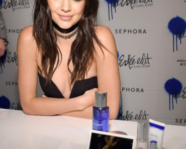 """NEW YORK, NY - MARCH 22:  Kendall Jenner kicks off the launch of The Estee Edit By Estee Lauder at Sephora Fifth Avenue on March 22, 2016 in New York City.  (Photo by Kevin Mazur/Getty Images for Estee Lauder)"""